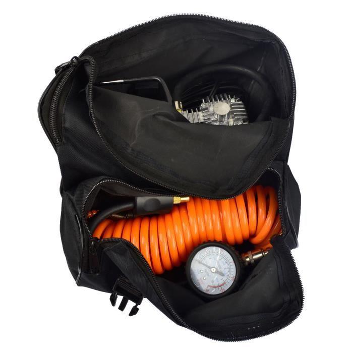 12V usage intensif du compresseur d'air électrique Gonfleur pneumatique Portable Batterie Clip TE336