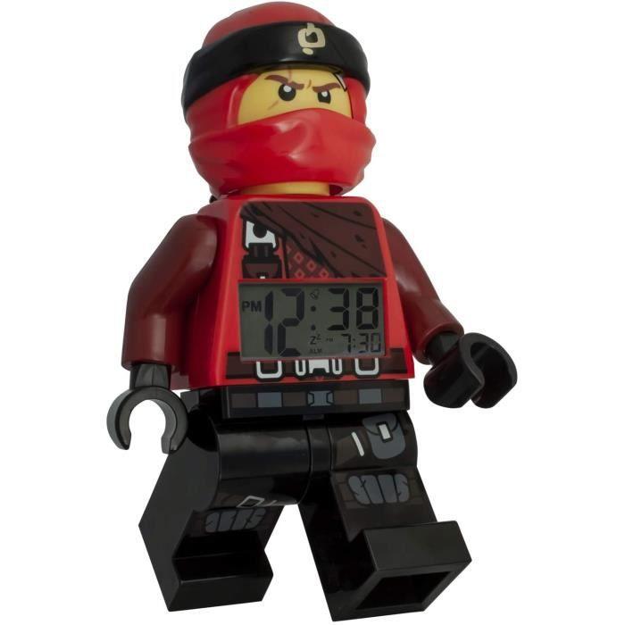 Jeux de construction LEGO Réveil Lumineux Figurine Kai Ninjago 9009181 pour Enfant, Rouge-Noir, 9,5 inches 52497