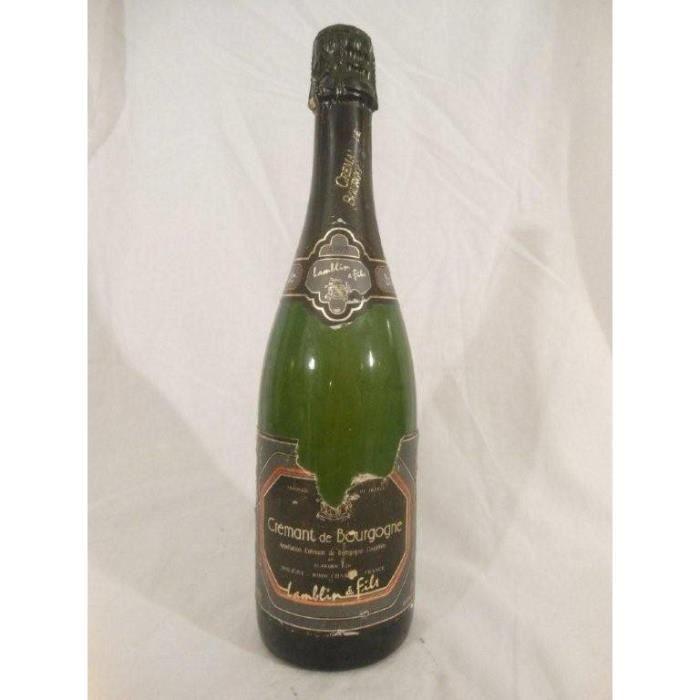 crémant lamblin (étiquette déchirée) pétillant 1992 - bourgogne