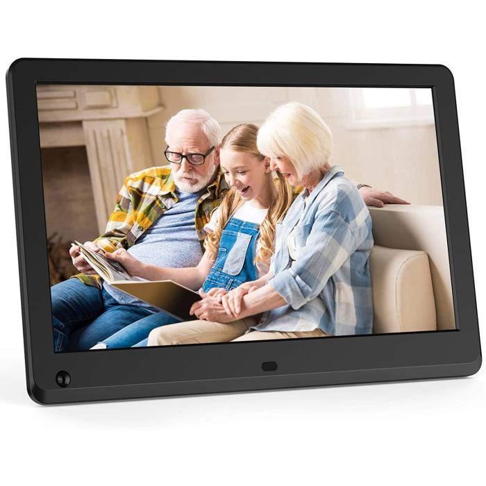 MELCAM Cadre photo numérique 11,6-, écran IPS 1080p pour photo-musique-lecteur vidéo avec calendrier-réveil, capteur de mouveme A80