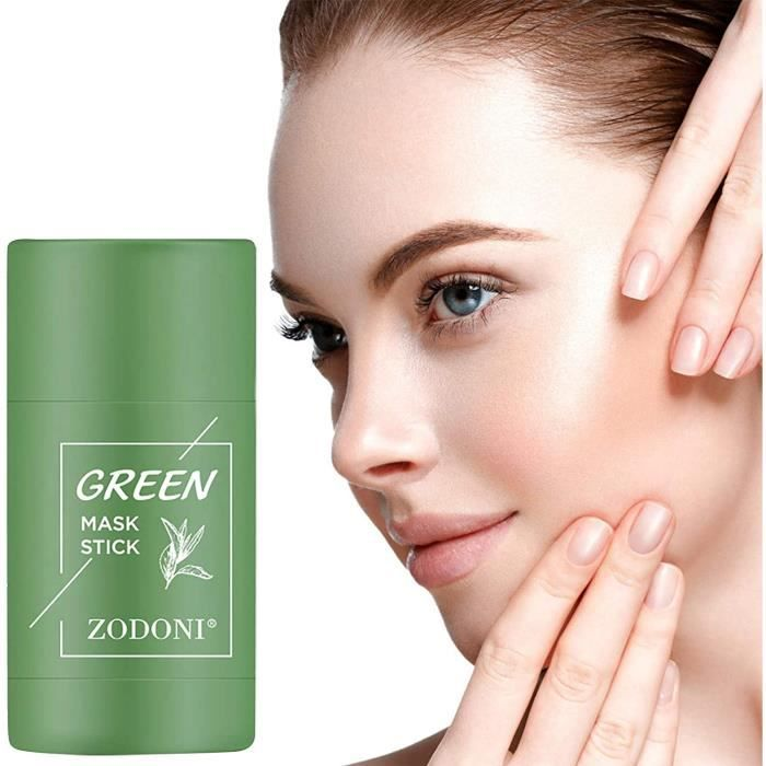Green Tea Face Solid Mask Stick Remove Acne Blackhead Nose Deep Cleaning Pore, Hydrating Blackhead Remover Facial Mask Shrink Pores