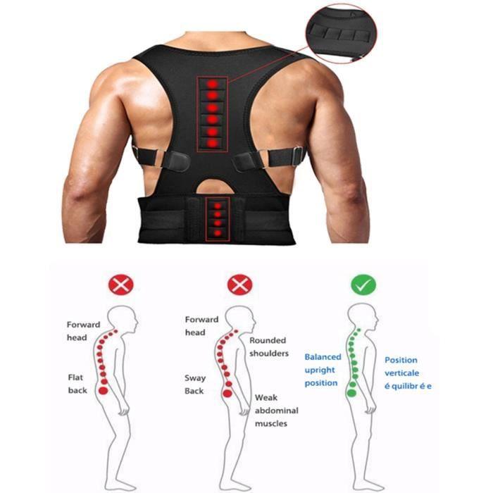 DOTOPON®Ajuster magnétique thérapie correcteur de Posture de dos Brace Épaule Retour ceinture de soutien Épaule Posture(M)