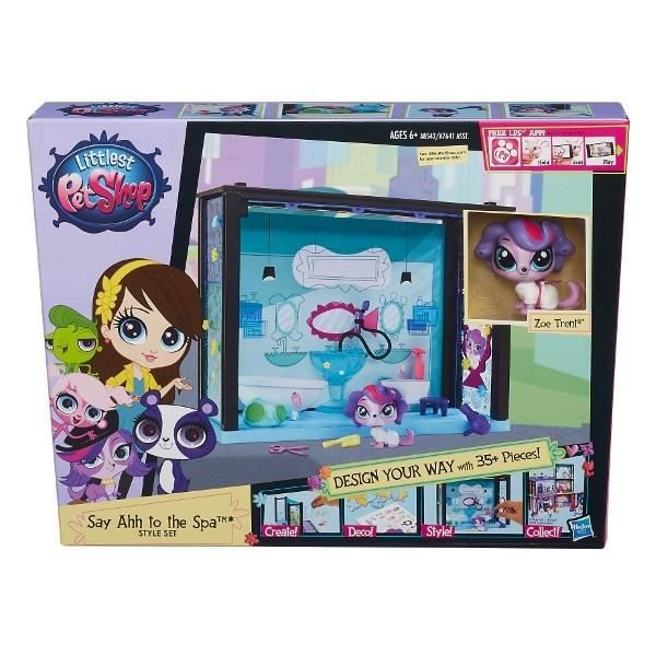 LITTLEST PET SHOP SAY AHH TO THE SPA STYLE SET HASBRO ZH-A7641