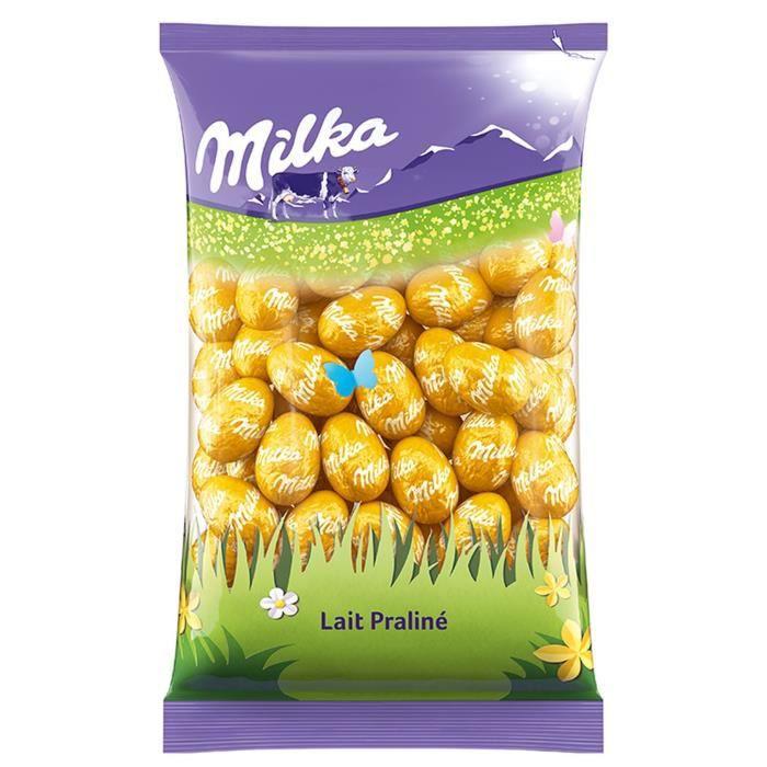 MILKA Chocolat Petits Oeufs Lait Praliné - 500 g