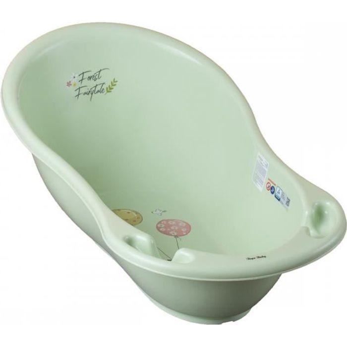 Baignoire bébé avec thermomètre Vert Forest 102 cm