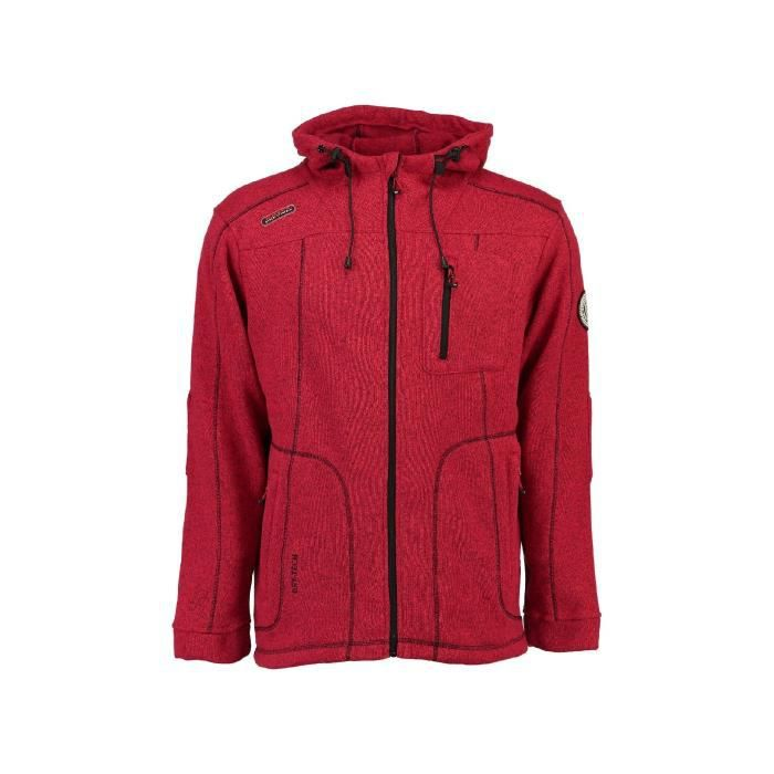 Polaire Homme Geographical Norway Tching Rouge
