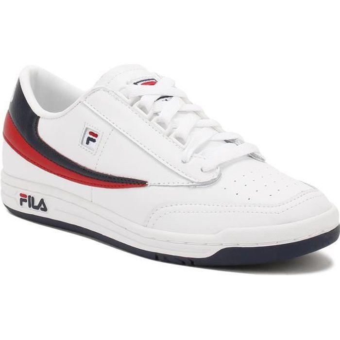 Fila Homme White - Navy - Rouge Original Tennis Baskets-UK 9