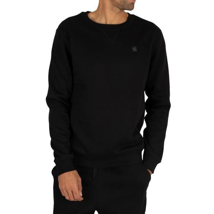 G-Star Pour des hommes Sweat-shirt de base haut de gamme, Noir