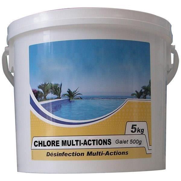 Chlore lent multi-fonctions galet 500g 5kg