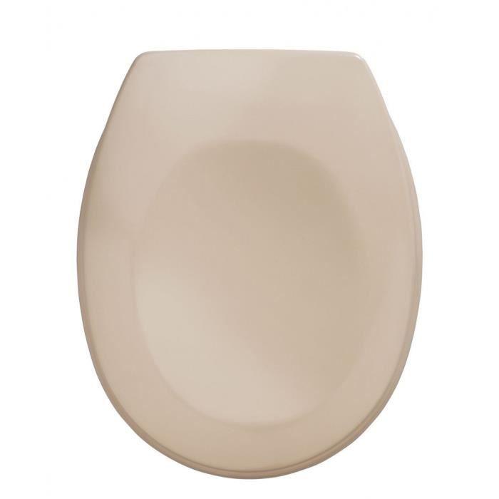 Abattant WC Bergamo coloris beige, 35 x 44,4 cm