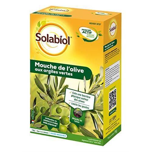 Solabiol SOMOUCH01N Mouche De L'olive Aux Argiles Vertes 1 Kg,