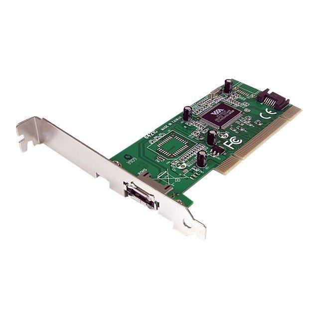 Startech Carte contrôleur 1 port Esata + 1 port Sata Pci Sata avec support faible encombrement
