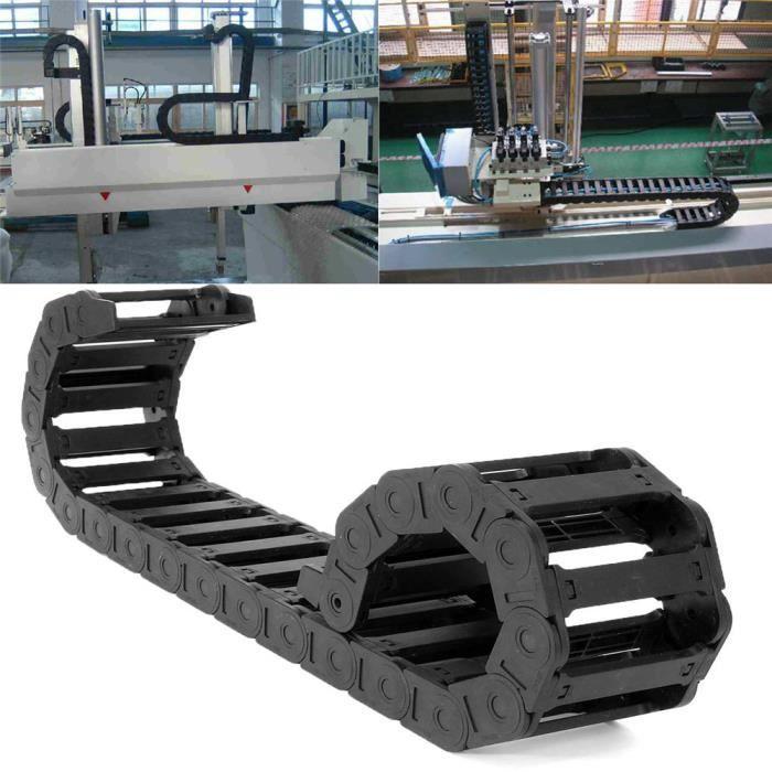 Noir Nylon Chaîne de Trainage Porte-Câble 25x77mm 1000MM Pr CNC Routeur Machine