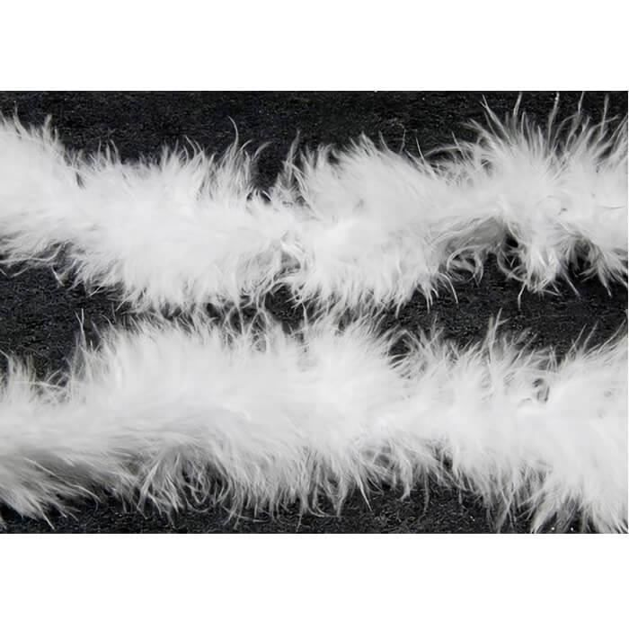 DEC490 - 1 Décoration de table avec guirlande plume blanche