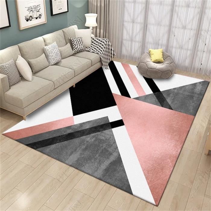Européen moderne Tapis de salon - Madrid style scandinave - 120x160cm -Rose