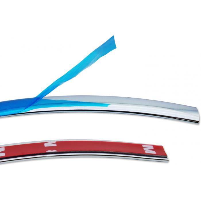 10 MM x 5 m Chrome Barre Chrome latérale autocollant Universel Voiture Contour