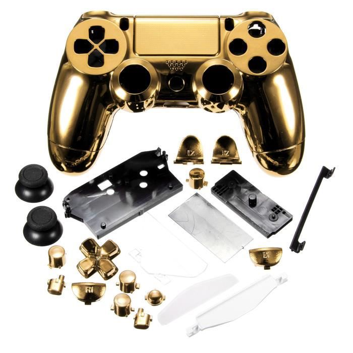 coque gold manette ps4 prix pas cher soldes cdiscount. Black Bedroom Furniture Sets. Home Design Ideas