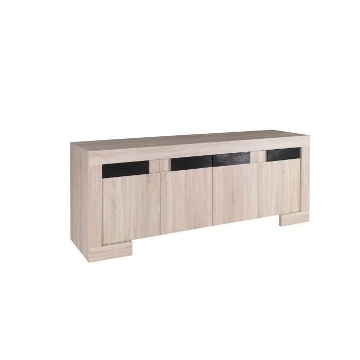 bahut design bois et noir laqu achat vente buffet. Black Bedroom Furniture Sets. Home Design Ideas