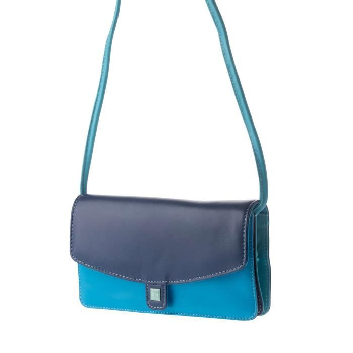 Dudu - Sac porté épaule - Collection Colorful - Sherbro - Bleu - femme