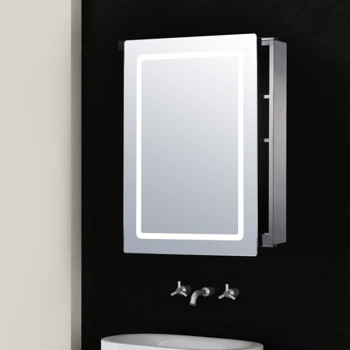 miroir lumineux led armoire murale design de salle de bain. Black Bedroom Furniture Sets. Home Design Ideas