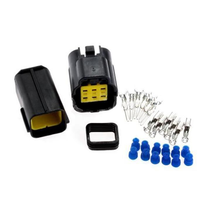 plastique camion lectrique auto tanche 1 kits 6 pin way connecteur tanche fil plug car set. Black Bedroom Furniture Sets. Home Design Ideas