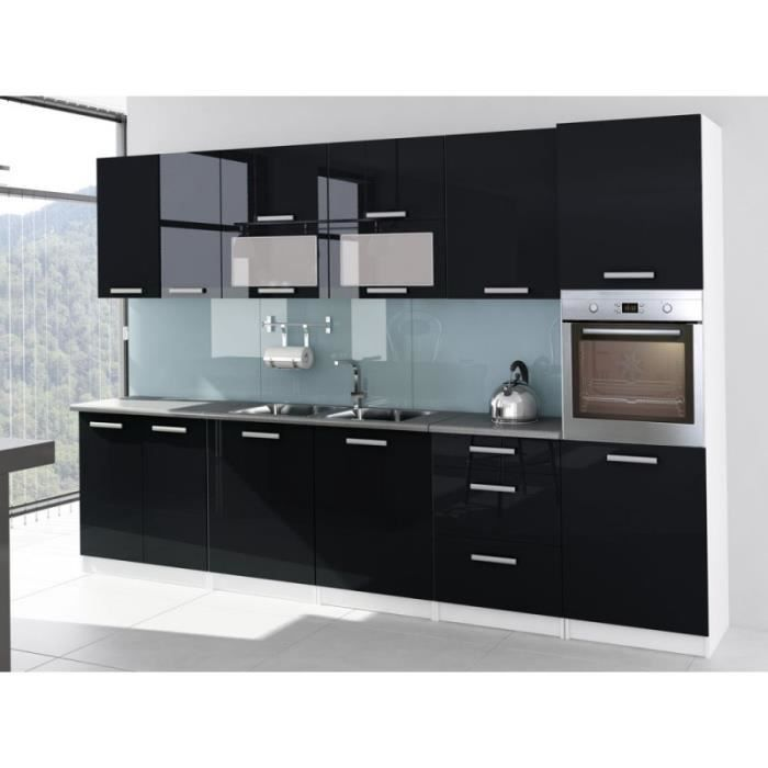 cuisine noire laque indogate decoration cuisine noire et blanc cuisine laque noire ikea cuisine. Black Bedroom Furniture Sets. Home Design Ideas