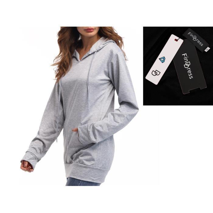 FindDress Sweatshirt Femme Large Unicouleur