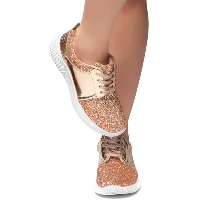 Fashion 40 W9AF0 Kick Glitter Magor Sneaker Upper With Taille Front Lace vS8vwq5