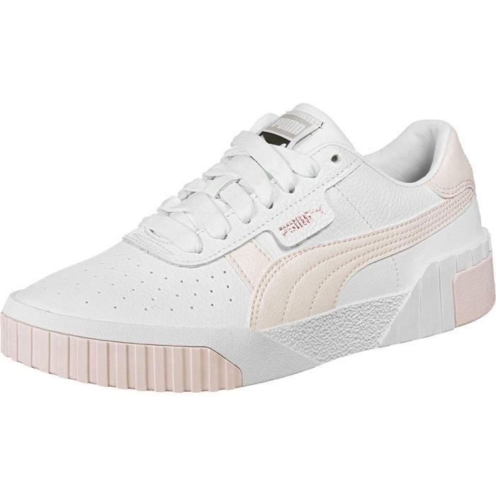 puma cali femme blanche et rose