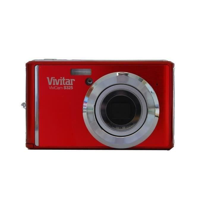 vivitar s325 rouge 16 mpixels zoom 3x appareil photo. Black Bedroom Furniture Sets. Home Design Ideas