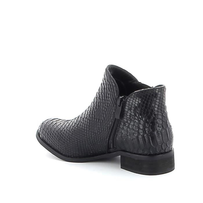Low-boots à motifs croco