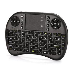 CLAVIER D'ORDINATEUR 2.4G mini clavier sans fil avec pavé tactile pour