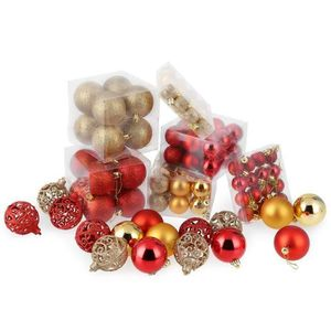 Crystal Bead Boule décoration de Noël 100 mm champagne Pack x2