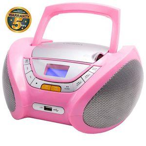 RADIO CD ENFANT Lauson CP448 Lecteur CD Boombox Radio Portable ave