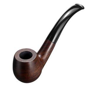 PIPE ss-33-Ébène En Bois Pipe à Fumer Tuyau Tabac Cigar