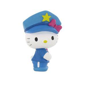 FIGURINE - PERSONNAGE Comansi - Hello Kitty - Mini figurine Police 6 cm