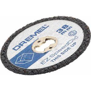 ACCESSOIRE MACHINE DREMEL 12 disques à plastiques EZ Speedclic 38mm