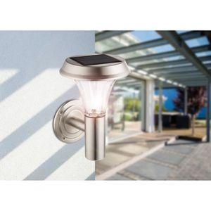LAMPE DE JARDIN  Globo Lighting Applique solaire inox - Verre - IP4