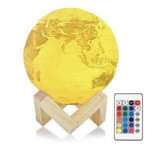 LAMPE A POSER InLife Lampe à poser, Lampe de la Terre 3D, Rechar