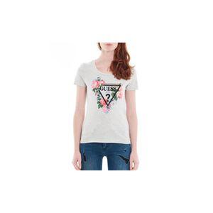 T-SHIRT Guess T-Shirt Femme Roses Gris