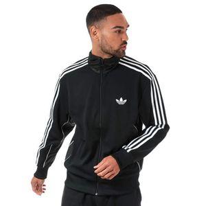Homme Adidas Originals Adi Firebird Zip Complet Pleine Survêtement Ensemble en polyester noir