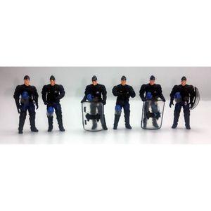 FIGURINE - PERSONNAGE 6 Figurines Gendarmes Mobiles Police CRS 1/43