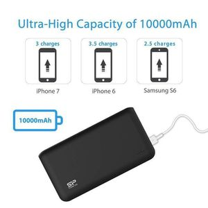 BATTERIE EXTERNE Batterie Externe Power Bank 10000 mAh 2 Sorties US