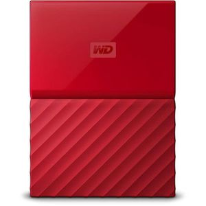 DISQUE DUR EXTERNE WD My Passport 4To Rouge + 1 Housse Offerte