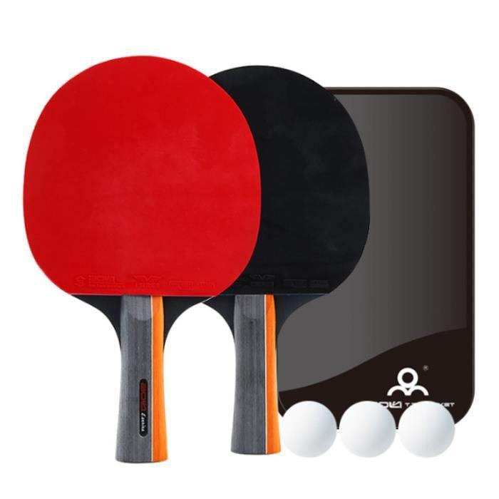 Raquette de Ping Pong Set,2 Table +3 Balle +1 Sac,Raquette de Tennis de Table pour Débutants et Joueurs Avancés Raquette de Tennis