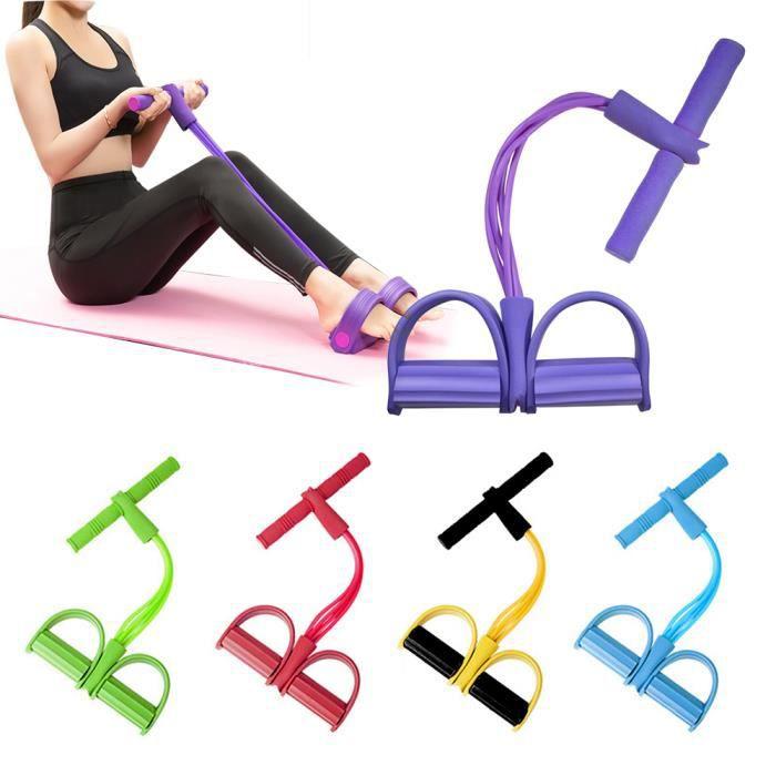 Bande de résistance perte de poids équipement de fitness 4 tube tension formateur exercice extenseur de pied poitrine jambe jambe ex