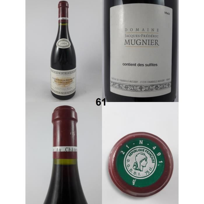 Chambolle-Musigny - Les Amoureuses - Mugnier 2004 - N° : 61, Chambolle-Musigny, Rouge
