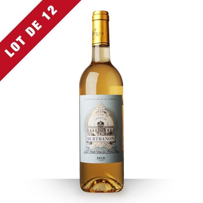 12X Château Bertranon 2010 Blanc 75cl AOC Sainte-Croix-du-Mont - Vin Blanc