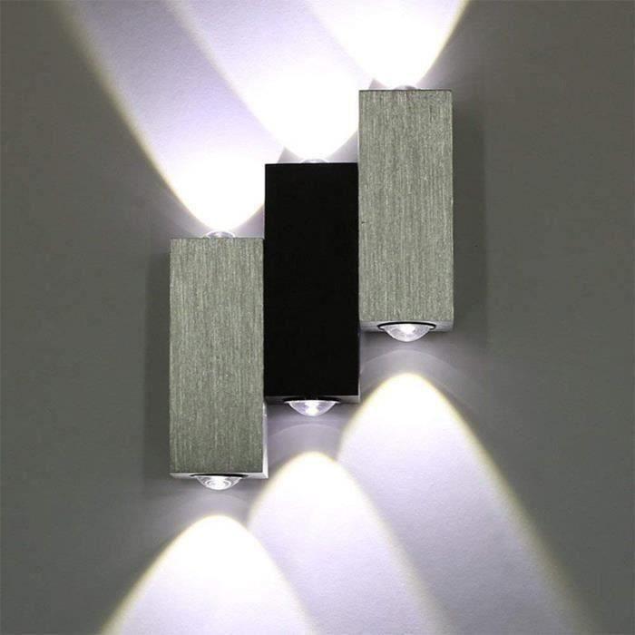 Murale Intérieure Triple LED 6W Lampe Moderne pour Salon Chambre Cuisine 3 Cube, Blanc Froid