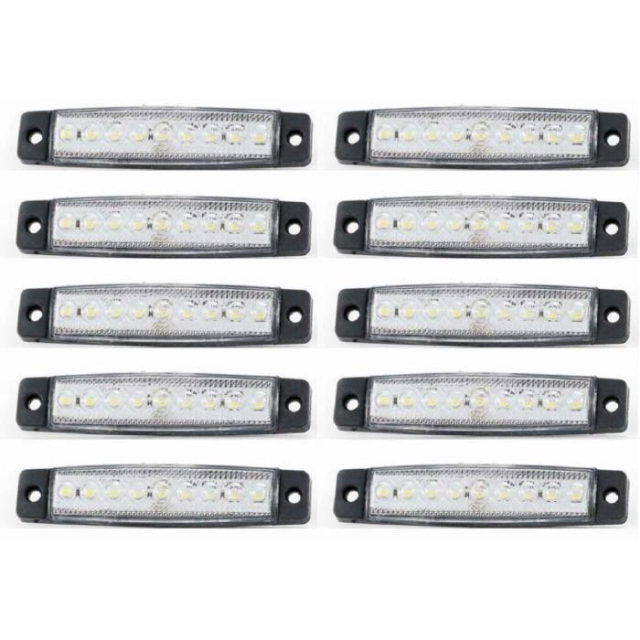 10x LED 24V Blanc 9 LED Avant Feux de Position Camion Remorque Bus Châssis Camionnette